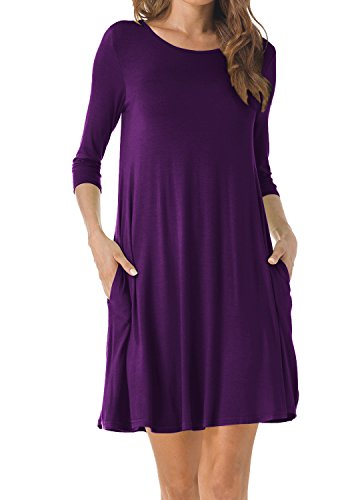 Purple Cotton Dress - 2
