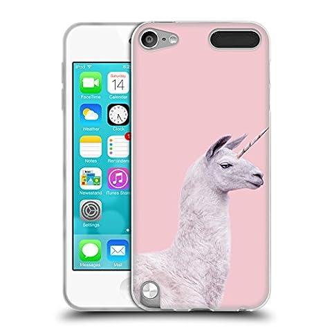 Official Paul Fuentes Unicorn Llama Animals 2 Soft Gel Case for Apple iPod Touch 5G 5th Gen (Ipod 5 Llama Case)