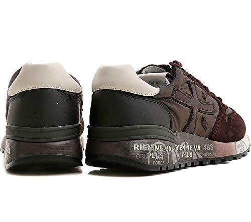 Premiata Pelle Tessuto Uomo Sneaker Marrone Da 2681 Camoscio Verde ... b08cab8282f