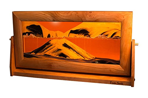 Moving Sand Pictures - XXL Cherry Frame (Sunset Orange)