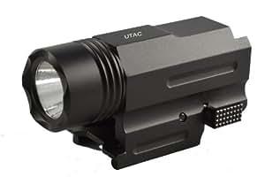 UTAC High Output 200 Lumen Tactical Compact Strobe Pistol LED Flashlight w/Weaver-Picatinny Quick Release