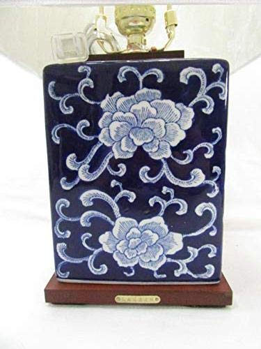 Price comparison product image Ralph Lauren Mandarin Navy White Porcelain Ceramic Floral Accent Lamp