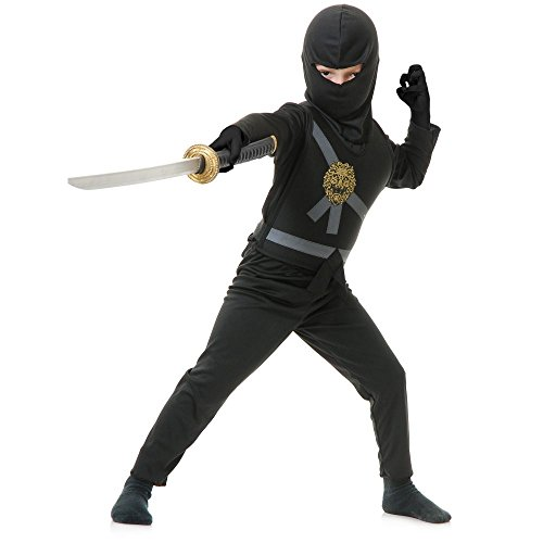 Black Ninja Avenger Kids Costume - Child Black Ninja Costumes