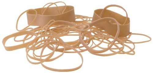 School Smart Rubber Bands - Size 19 - 3 1/2 x 1-16 inch - 1/4 pound by School Smart