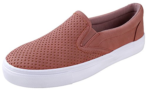SODA Women's Slip On Flat Shoes Dark Mauve 7 B(M) US