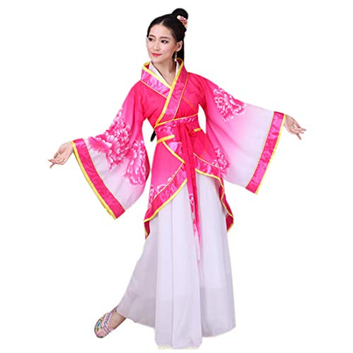 (Ez-sofei Women's Ancient Chinese Traditional Hanfu Dress Han Dynasty Cosplay Costume (S, G-Rose)