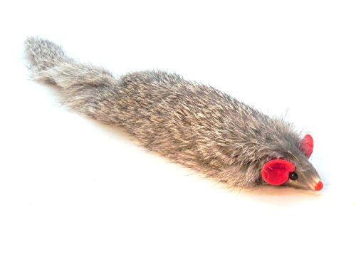 Dat Darn Ferret Rabbit Fur Cat - Catnip Mouse Toy Field