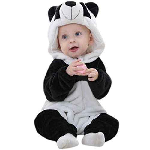 Panda Rompers, Misaky Toddler Newborn Baby Boys Girls Cartoon Hooded Outfits for 6-24 Month