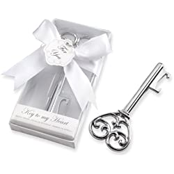 Kate Aspen Simply Elegant Bottle Opener, Key To My Heart