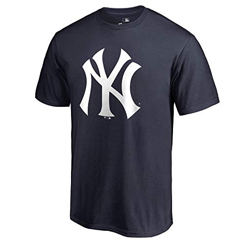 Outerstuff MLB Youth 8-20 Team Color Cool Base Polyester Performance Primary Logo T-Shirt (Small 8, New York Yankees)