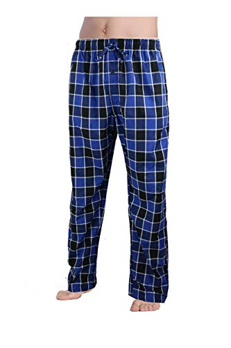CYZ Men's 100% Cotton Poplin Pajama Lounge Sleep Pant-Mid ()