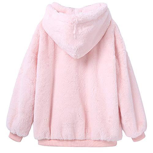 Pink Birichino Giacche Morwind Felpa Invernali Autunno Cappotto 2018 Lungo Inverno Sottile Capispalla Cappotti Pelliccia Caldo Donne Moda E 1nO1TR