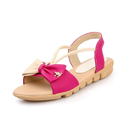 Amoonyfashion Donna Tacco Basso Materiale Assortito Colore Pull-on Open Toe Sandali Rosati