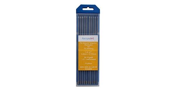 FerrumIWS 1.5% Lantano TIG Electrodos de Tungsteno, WL15 (oro) 3.2mm x 175mm Paquete de 10 piezas: Amazon.es: Bricolaje y herramientas
