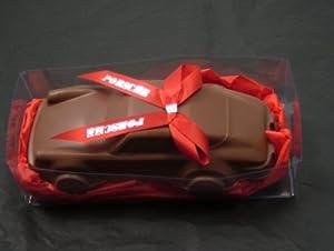Easter Basket Alternative, Easter Basket Filler, Car Lovers, Porsche, Gourmet Chocolate, Solid Gourmet Milk Chocolate Porsche Racing Sports Car in Gift Box