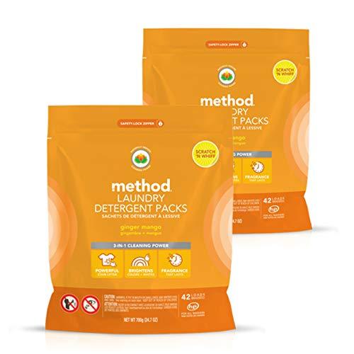 - Method Laundry Detergent Packs, Ginger Mango, 2 Count