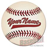 Personalized Round Baseball Floor Mat