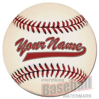 Personalized Round Baseball Floor Mat