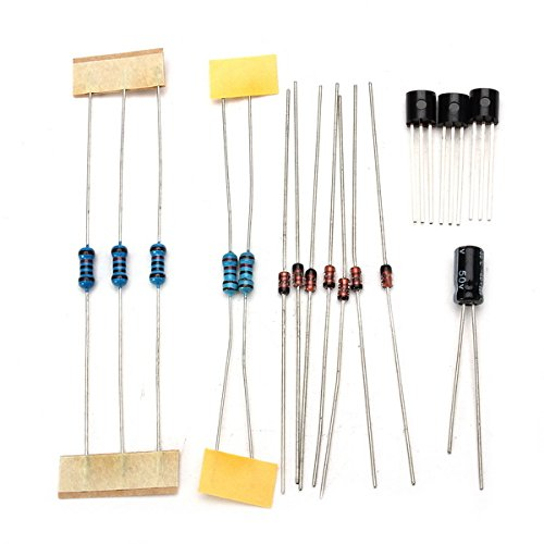Kungfu Mall 3Pcs DIY CD4017+NE555 Strobe Module Electronics Learning Kit