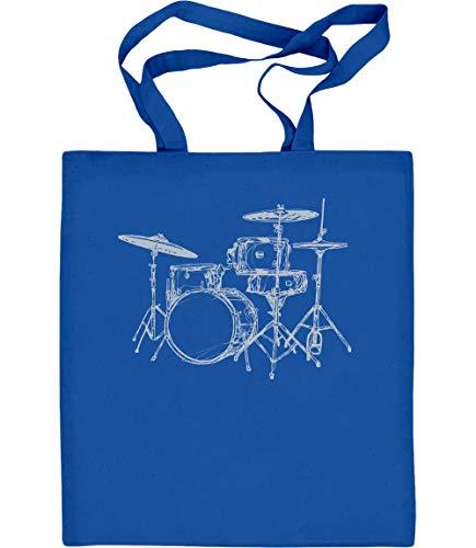Stampa Blu Batteria Tote Batterista Per Bag Regalo Di Fantastica tyqfz1wcxU