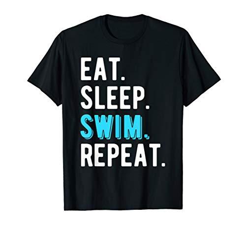Eat Sleep Swim Repeat Swimming Swimmer Gift T-Shirt ()