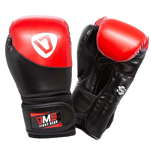 Red G1 Leather Boxing Gloves - Training Equipment for Men and Women| Best Suited for Kickboxing, UFC, MMA, Muay Thai | Professional Leather Sparring Punching Bag Mitts (14OZ, Red)