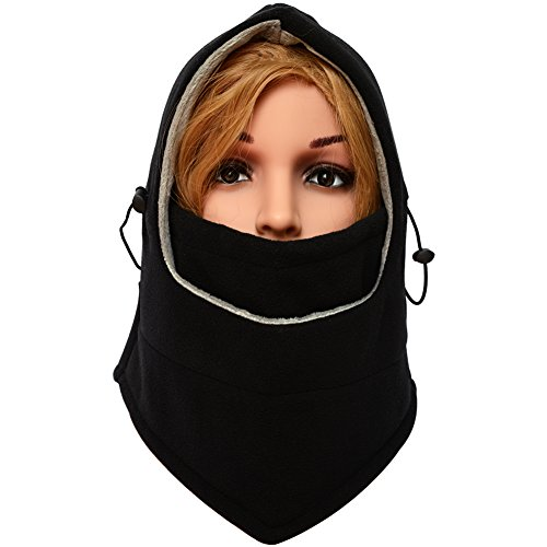 LETRY Balaclava Winter Face Mask For Men and Women Outdoor Sport Ski Mask Neck Warmer Black