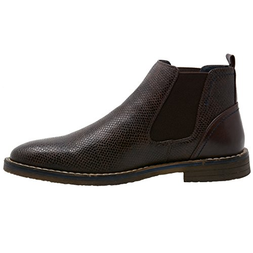 alpine swiss Men's Nash Chelsea Boots Snakeskin Ankle Boot Genuine Leather Lined Brown UBdow6tWnR