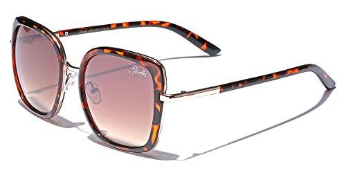 Giselle Oversized Square Women's Vintage Fashion Statement Sunglasses ()
