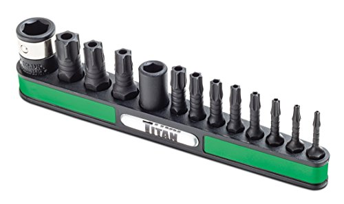 Titan Tools 16039 13-Piece TR Impact Star Bit Set
