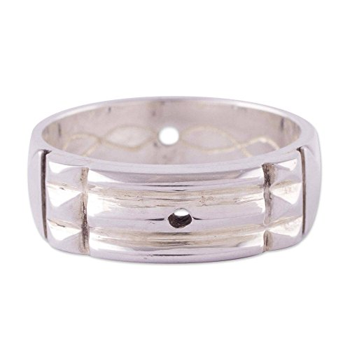 (NOVICA .925 Sterling Silver Geometric Band Ring, Atlantis Power')