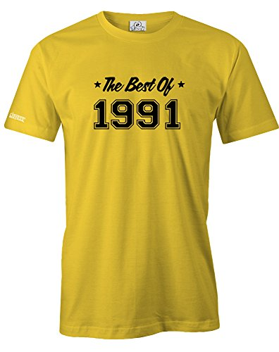 THE BEST OF 1991 - HERREN - T-SHIRT in Gelb by Jayess Gr. XXXL
