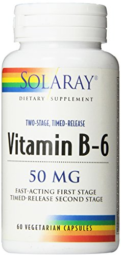 Solaray B-6 TSTR Supplement, 50mg, 60 Count