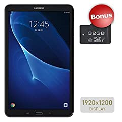 """Tech Specs: Screen Size: 10.1"""" Flash Size: 200GB Model Number: SM-T580 Memory: 16GB Color: Black Operating System: Android Processor: Exynox 7870 Octa-Core (1.6GHz) Weight: 1.16lbs Input/Output: microUSB Speakers: Y Battery Type: 7,300mAh Lit..."""