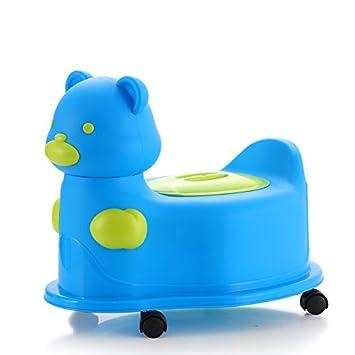 ade375565f7 Kidoloop Dodi Bear Pot avec roulettes pour enfants Formation de WC avec  couvercle (Bleu)