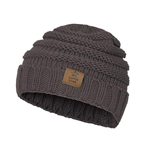 Kids Baby Toddler Knitted Soft Warm Winter Hats Caps Lovely Cozy Baby Beanies for Boys Girls Grey