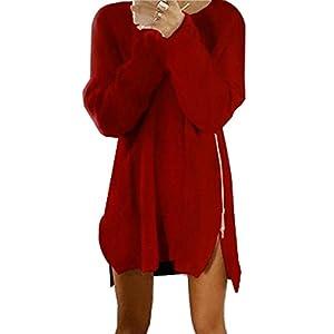 FAPIZI Women Dress ♥ Casual Loose Zipper Sweater Dress For Women