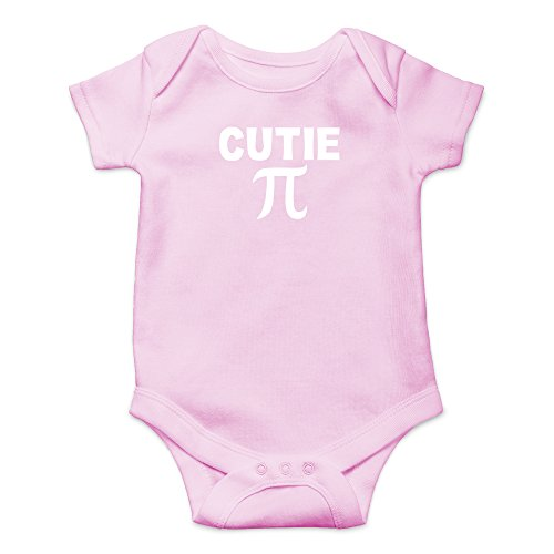 (Crazy Bros Tees Cutie Pie - Math Parody Funny Cute Novelty Infant One-Piece Baby Bodysuit (6 Months,)