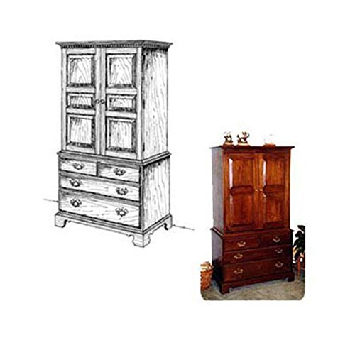 Woodworking Project Paper Plan to Build French Armoire