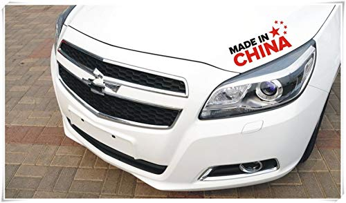 - China's Five-Star red Flag car Stickers, Decorative 3D Stereo Mirrors, Personalized Creative Flag Stickers Scratched.