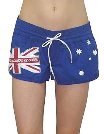 Rip Curl Oz 3'' Womens Casual Beach & Surf Summer Shorts 10 Blue