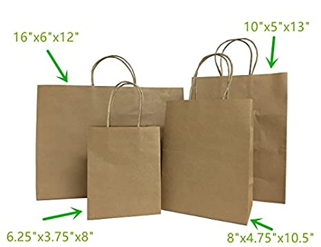 Amazon.com: metrogalaxy Premium Kraft Bolsa de papel 8
