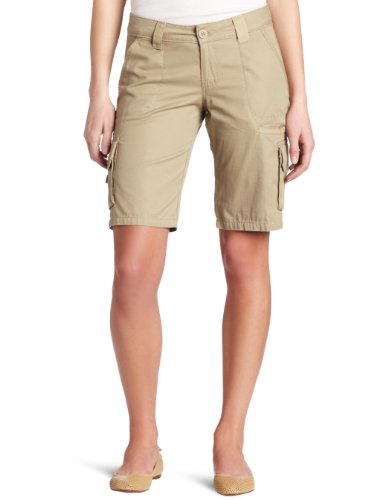 (Dickies Women's 11 Inch Relaxed Cargo Short, Desert Sand, 6)