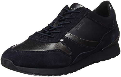 Geox Women's D Deynna E Low-Top Sneakers Grey (Dk Grey/Navy) ePXDK