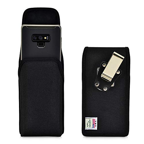 Turtleback Belt Clip Case Compatible with Samsung Note 9 and Note 8 Black Vertical Holster Nylon Pouch with Heavy Duty Rotating Belt Clip Made in USA