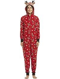 Christmas Matching Family Pajamas Set Santa's Deer Sleepwear Jumpsuit Hoodies