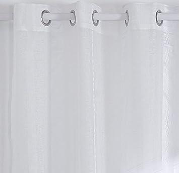 2 x Vorhang Doppel Ösen, Streifen Moderne Deko Fenster Wohnzimmer ...