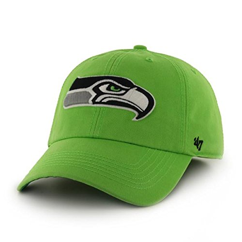 Seattle Seahawks 47 Brand Lime Green Franchise Fitted Slouch Hat Cap (S)