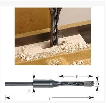 10mm Mortising Square Hole Saw Auger Drill Bit Chisel Woodworking Milling Cutter