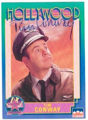 Autographed Golf Trading Card (Tim Conway autographed trading card (Carol Burnett Show Dorf on Golf) 1991 Hollywood Walk of Fame)